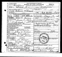 This states his parents full names, and that he died from Carcinoma in the liver and lungs.