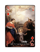 THREE or TREY -  I think of the Holy Trinity The Father, The Son, and The Holy Spirit.