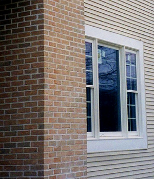 High energy performance: well-insulated brick, vinyl siding or hard plank siding.