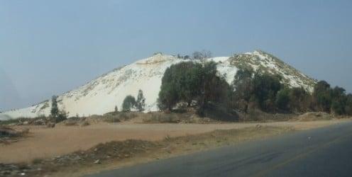 Mine dumps between Randfontein and Krugersdorp © Martie Coetser