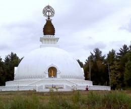 Meditating at the Peace Pagoda
