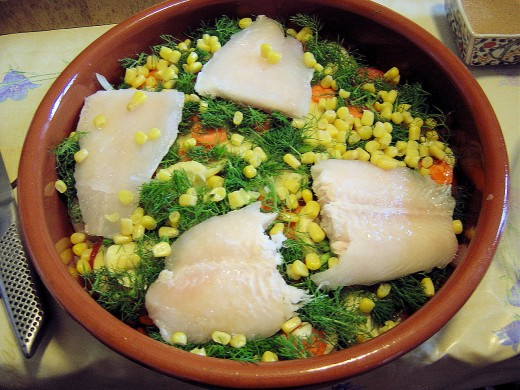 We like this fish bake. No, I didn't catch the fish myself!
