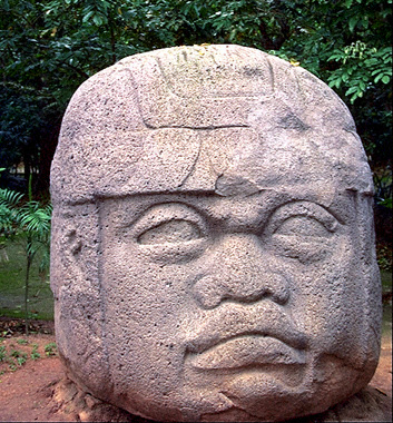 This classic head is central to the idea that at least some of the Olmec came from Africa. There are literally dozens of heads like this.