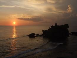 Sunset at Tanah Lot Temple Bali Indonesia