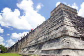 This is one of the largest pyramids in Mesoamerica and this one is attributed to the Olmec.