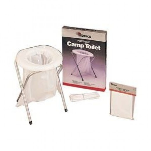 Portable Camp Toilet - Camping Commode