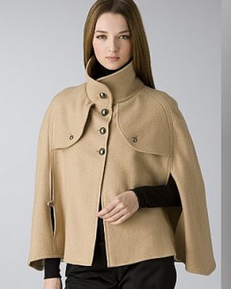Super Smart Burberry Military Style Cape