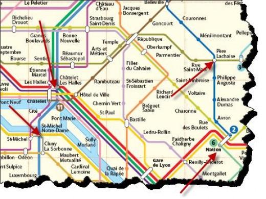 paris metro map 2011. a Paris map (not the metro