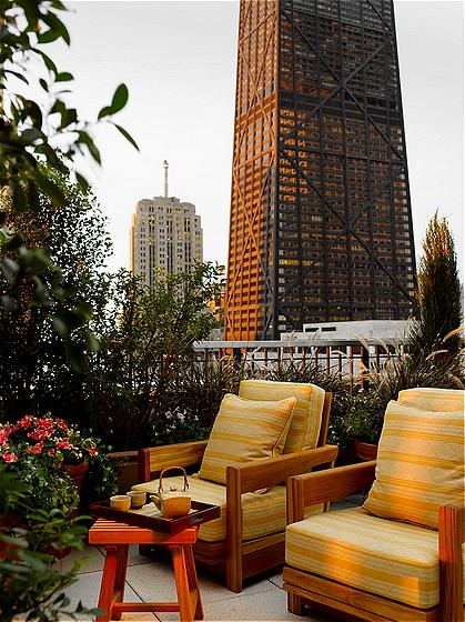 Peninsula Hotel Roof Top in Chicago, Illinois