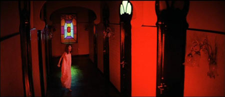 The use of color and light in Suspiria give it an eerie tone