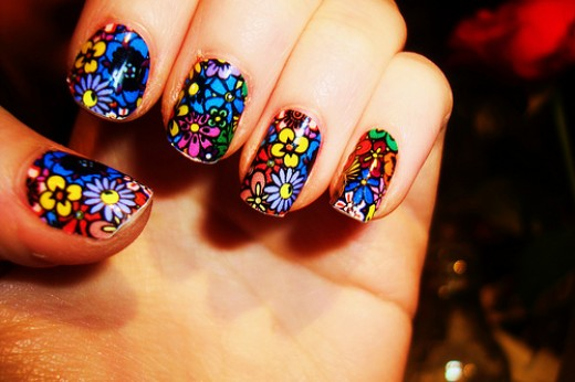 flower designs for nails. variety of flower designs.