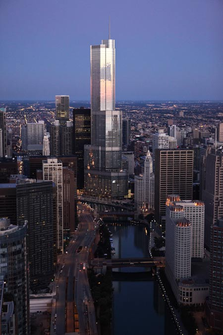 Birds Eye View of Terrific Towers Including Trump Towers
