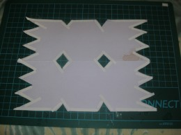 Hand cut a cracker shape- all you need is straight lines