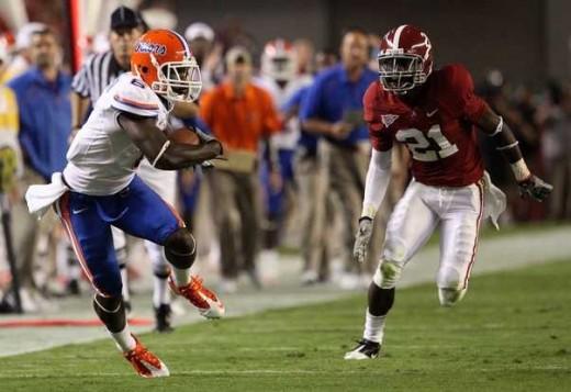 WR Deonte Thompson Florida 2010 stats: 21rec 308yds