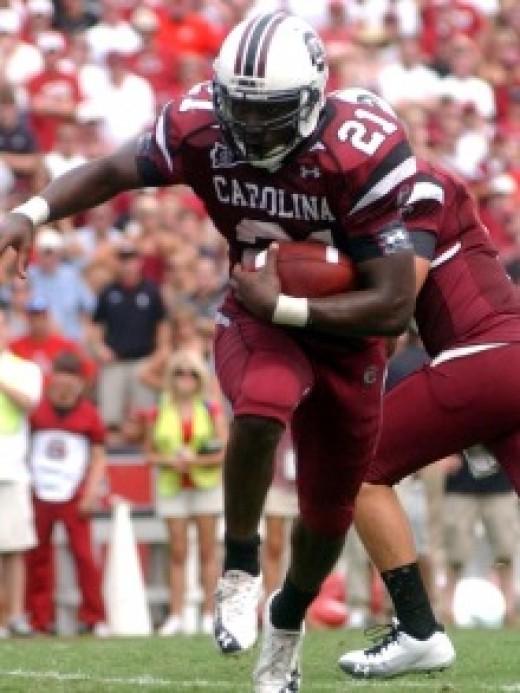 RB Marcus Lattimore South Carolina 2010 stats: 84att 366yds 6TD and 6rec 65yds