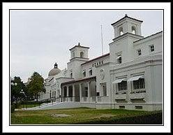 """The Ozark Bathhouse, along Hot Springs' famed """"Bathhouse Row"""""""
