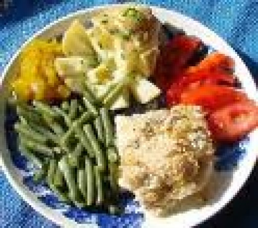Serve your baked haddock with roasted veggies