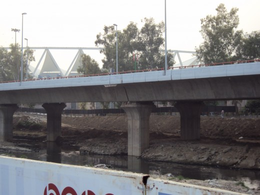 drain running parallel to jnu sports complex