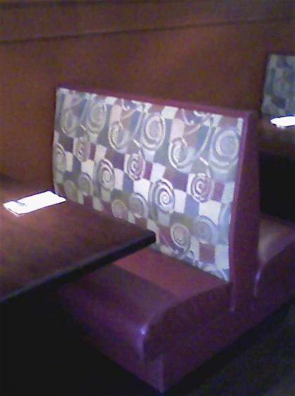 A booth at Lavender Asian Bistro.