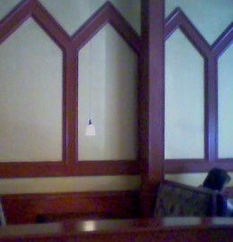 Dining Room colors, with lamp.