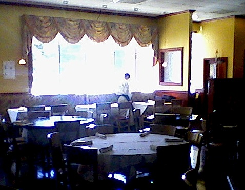 Getting ready for the lunch-time rush:  a view across the cozy dining room at Lavender Asian Bistro.