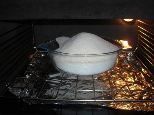 warm the sugar
