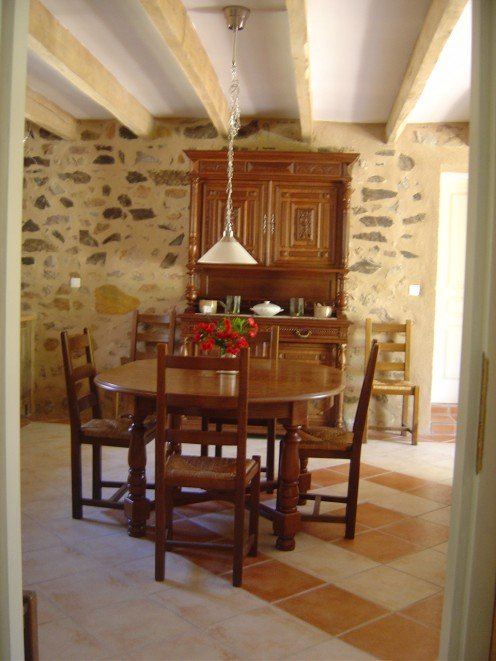 Our newly converted gite has three en-suite bedrooms and an open plan living room, dining room and kitchen.