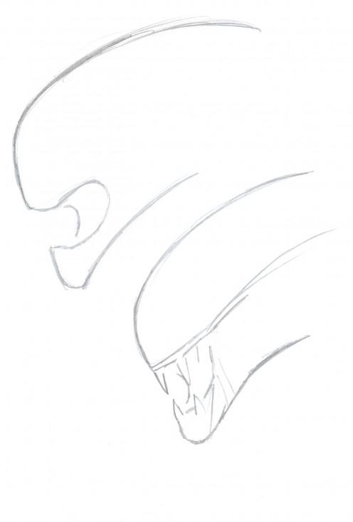 alien head drawing - photo #11