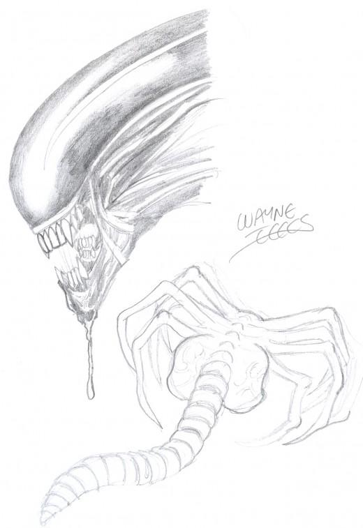 alien head drawing - photo #23