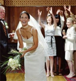 The bouquet-toss is the realm of the first-time bride!
