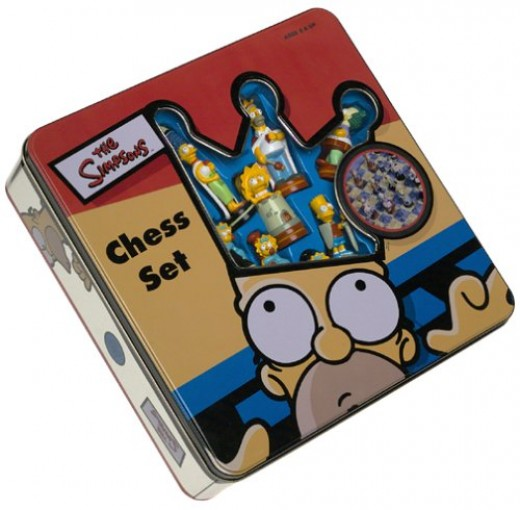 Simpsons Chess Game Box