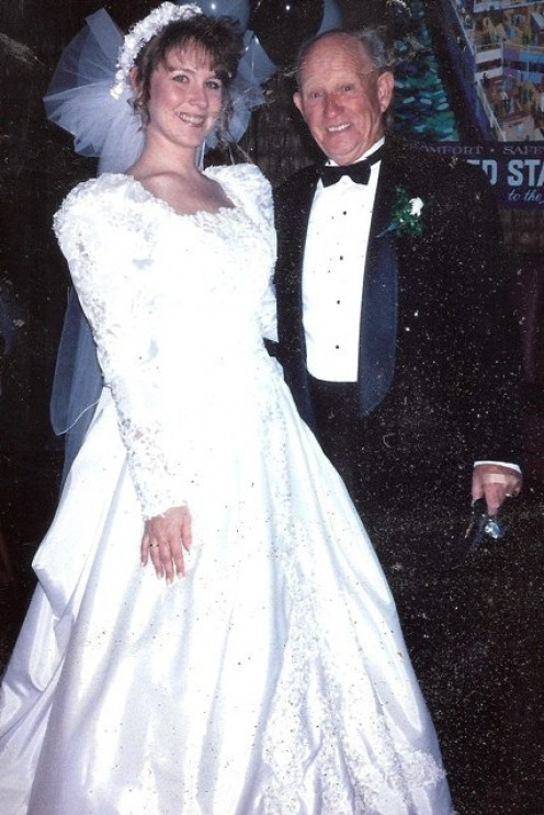 Me & Papa at my wedding. 14 March 1992