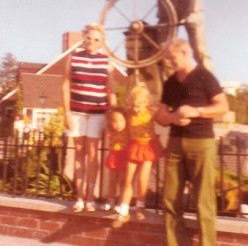 My sister and I with our Grandparents Summer 1971 Ports Of Call,  San Pedro, CA