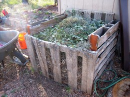 An example of a cheap, easy compost heap
