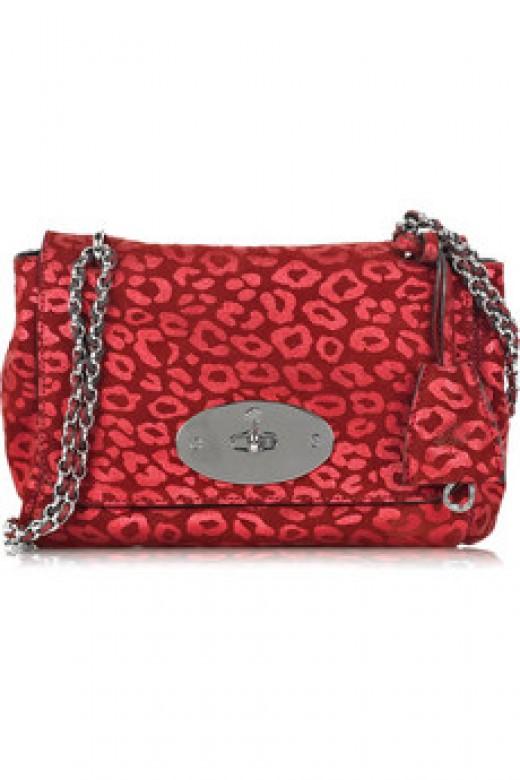 Mulberry Leather Print Shoulder Bag 495 UKP