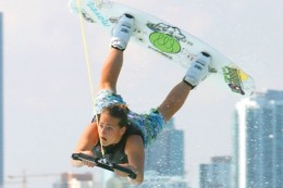 Raimi Merritt rocks the scene in the wakeboarding world.