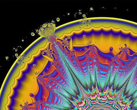 A Super Volcano in fractal vision