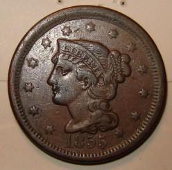 American Half Cent copper coins