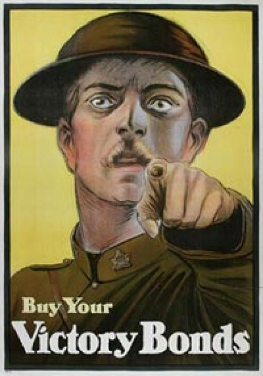 A canadian war bonds poster