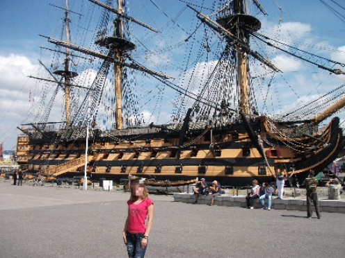 The vast HMS Victory at the Portsmouth Historic Dockyard