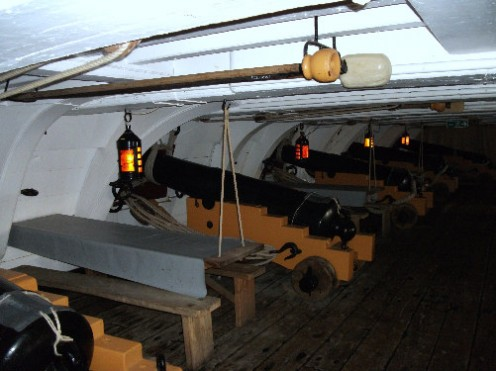 You can explore the inside of the vessel with it's many decks. This makes the HMS Victory a must see at Portsmouth