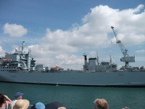 Ships in dock