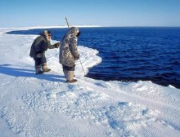 Another facet of Inuit character is their patience in the hunt. They will wait for seals to come up and breath and then will capture them.