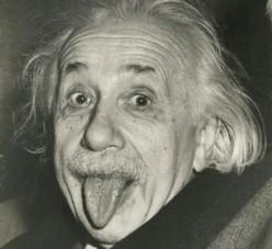 Einstein Jokes - Albert Einstein Sticking Tongue, Humor, and Funny Quotes