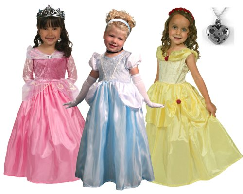 Cinderella, Belle and Sleeping Beauty Princess Dresses