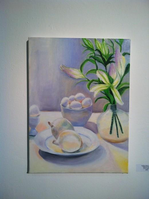 White on White, Oil by Toshiko Kitano Groner