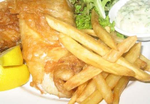 Fish and chips hubpages tattoo design bild for Best fish and chips recipe