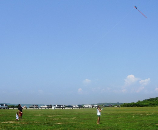 Flying Kites at Brenton Point State Park
