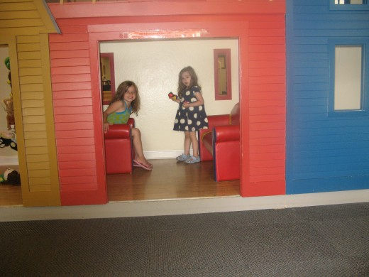 Playing in the Newport Public Library
