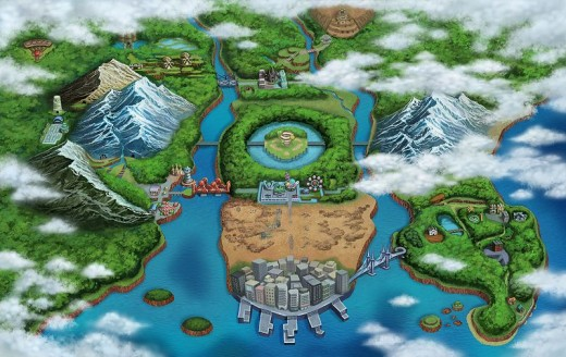 pokemon black and white map of isshu. A map of the Isshu region